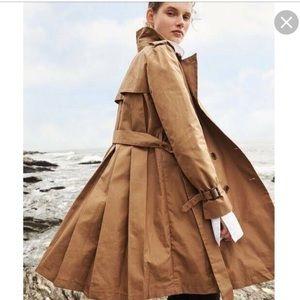 Jcrew Pleated Trench Coat